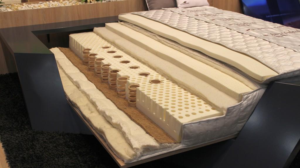 Matratzenaufbau einer Naturlatexmatratze bei Vitalwood