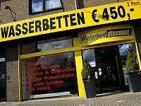 Schaufenster Waterbed Discount